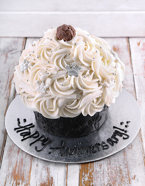 bakery: Happy Anniversary Giant Cupcake!