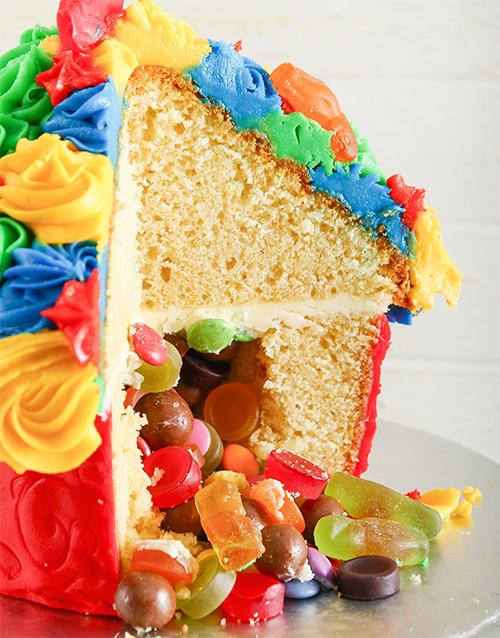 good-luck: Rainbow Fantasy Giant Pinata Cupcake!