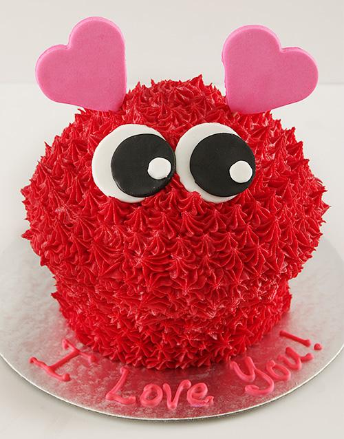 anniversary: Love Bug Giant Cupcake!