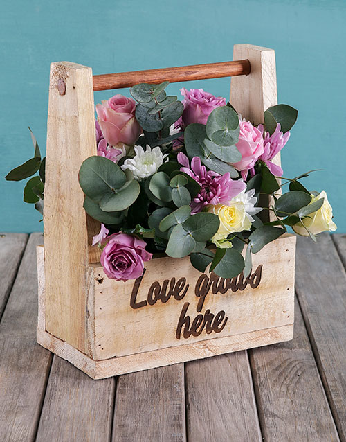 flowers: Mothers Day Love Grows Flower Crate!