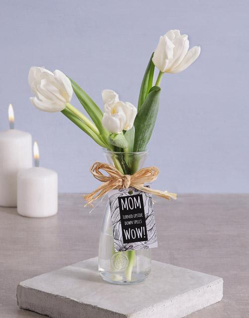 flowers: Tulips in Vase for Mom!