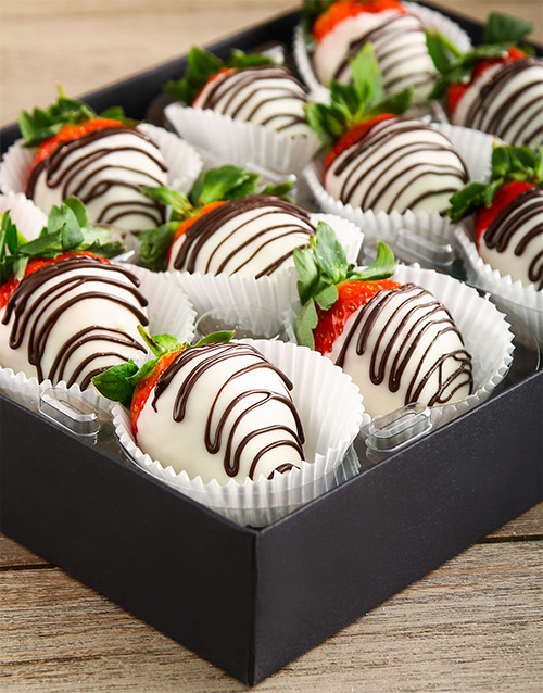 bakery: White Stripy Strawberries!