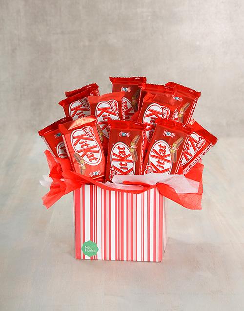 edible-chocolate-arrangements: Kit Kat Cluster Box!