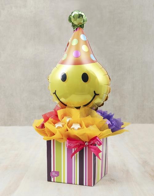 edible-chocolate-arrangements: Smiley Surprise Edible Arrangement!