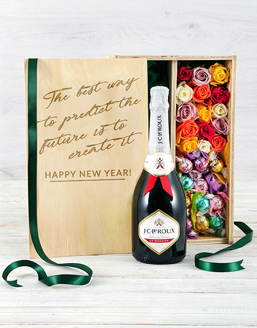 edible-chocolate-arrangements: Bubbly Lindt and Rose Crate!