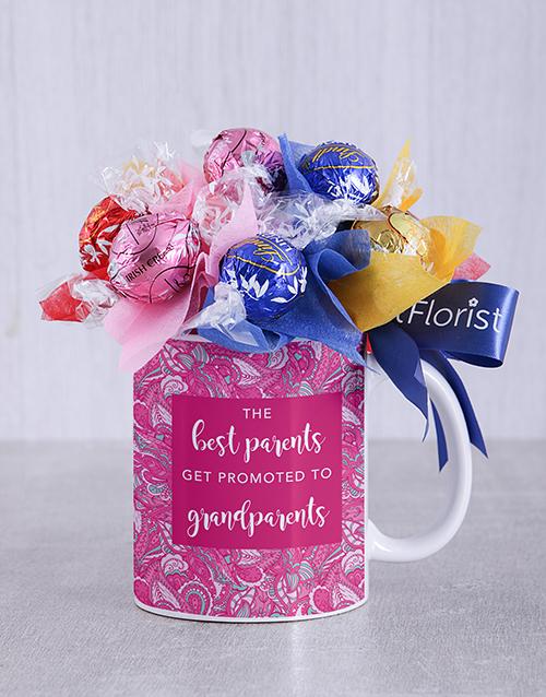 edible-chocolate-arrangements: Best Grandparents Lindt Mug Arrangement!