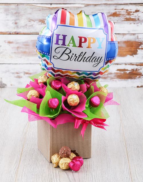 edible-chocolate-arrangements: Pretty In Pink And Green Edible Arrangement!
