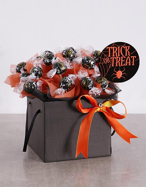 edible-chocolate-arrangements: Trick or Treat Dark Lindt Edible Arrangement!