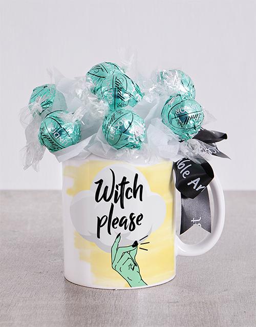 edible-chocolate-arrangements: Witch Please Lindt Mug Arrangement!