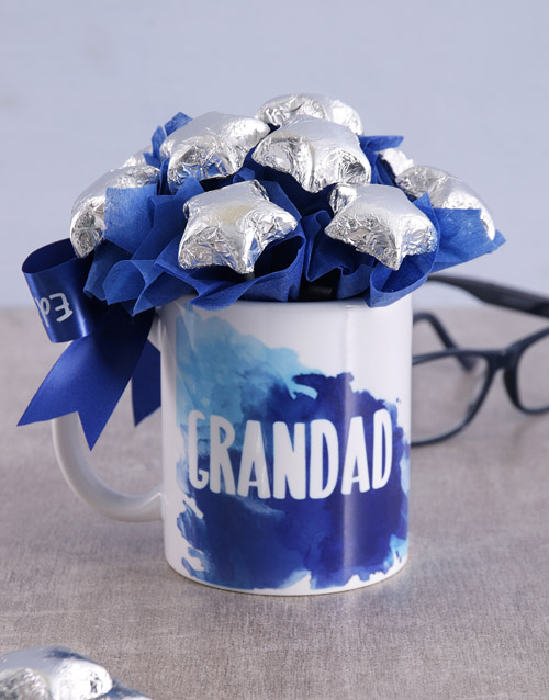 edible-chocolate-arrangements: Star Grandad Arrangement in Mug!