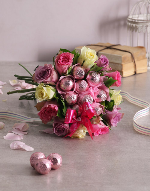 bouquets: Rosy Chocolate Arrangement!