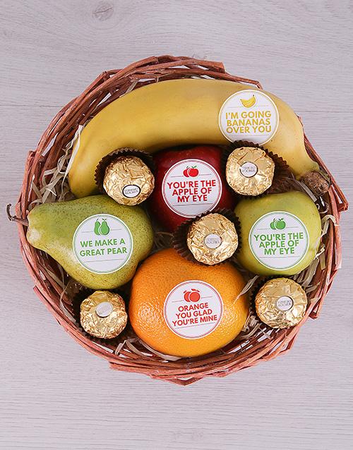 basket: Mixed Fruit and Ferrero Basket!