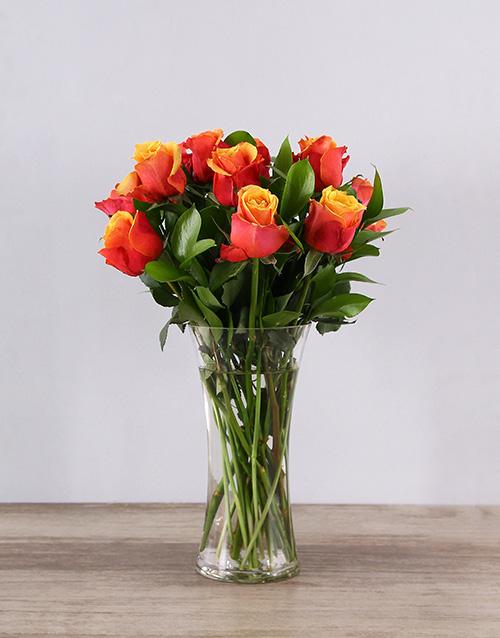 friendship: Cherry Brandy Roses in a Vase!