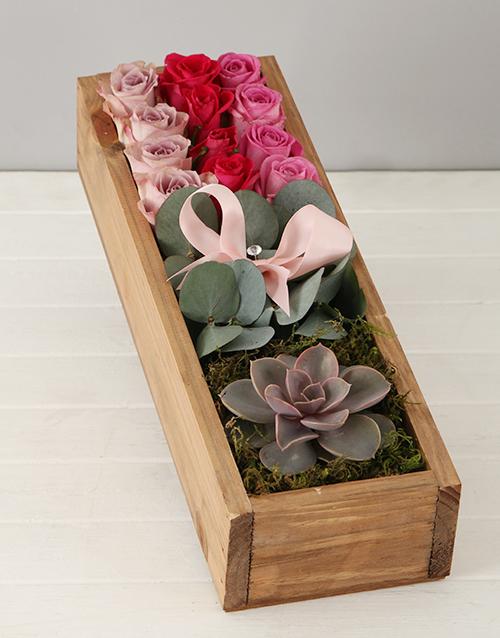 colour: Rosy Succulent Crate!