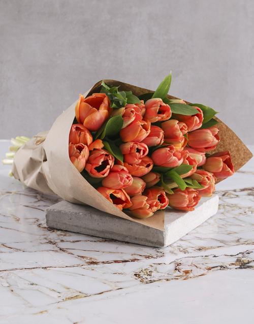 bouquets: OrangeTulip Bouquet!