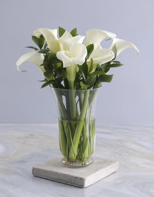 anniversary: Ivory Elegance Arum Arrangement!