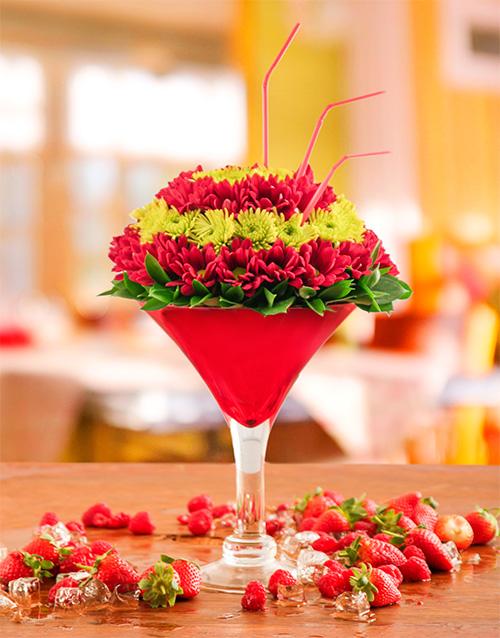 vase: Tequila Sunrise Arrangement!