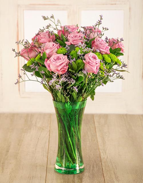 coloured-vases: Vibrant Light Purple Arrangement!