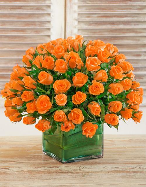 colour: Sunset Rose Arrangement!