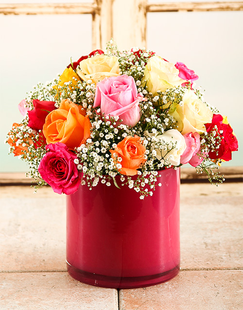 flowers: Mixed Rose Pink Lady!