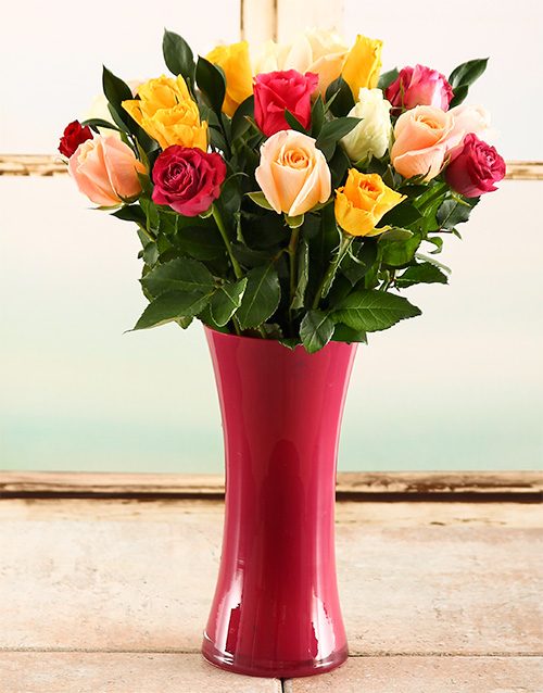 colour: Happiness is Rose Arrangement!
