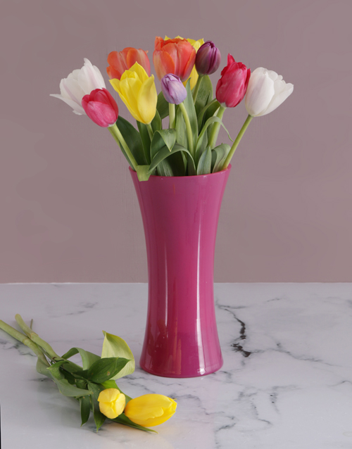 birthday: Tulips in Pink Flair!