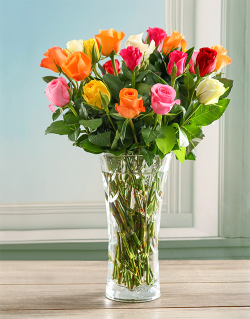 colour: Mixed Rose Crystal Vase!