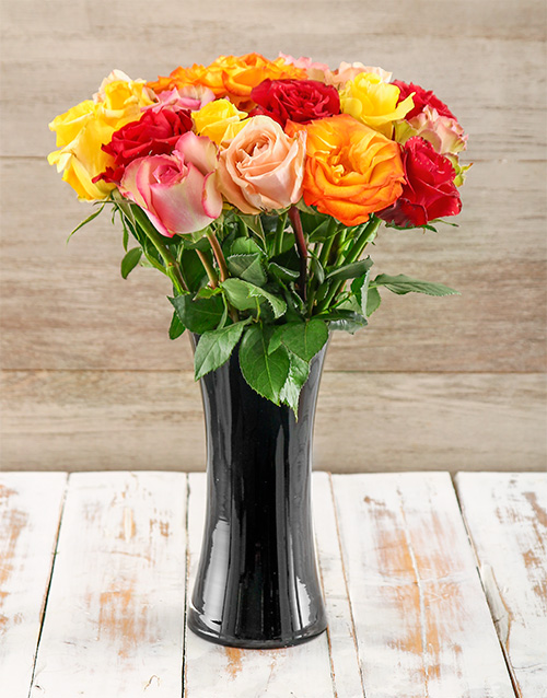coloured-vases: A Touch of Class Giant Ethiopian Roses Arrangement!