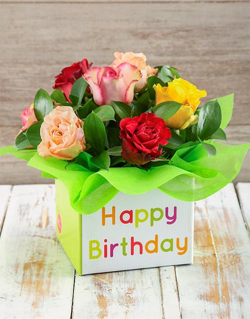 colour: Giant Ethiopian Roses Birthday Box!