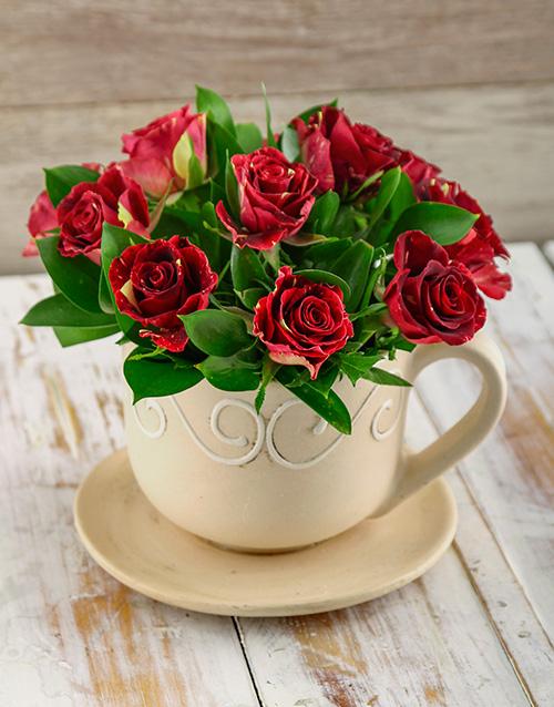 flowers: Abracadabra Roses in a Tea Cup!