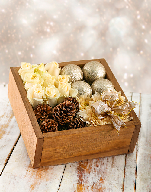 roses: Silver Bells Christmas Crate!