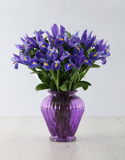 flowers: Iris From the Heart Arrangement!