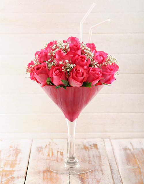 colour: Pink Lady Cocktail Arrangement!