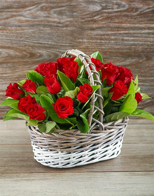 basket: Sweetheart Red Rose Basket!