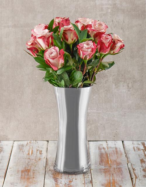 colour: Pink and Silver Arrangement!