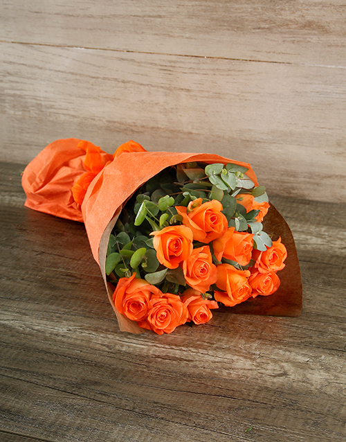 apology: Radiant Orange Rose Bouquet!