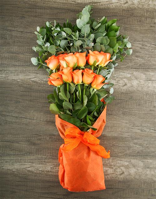bouquets: Mystical Orange Rose Bouquet!