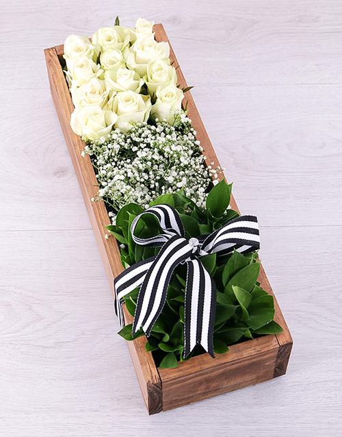 colour: White Rose Rectangular Crate!