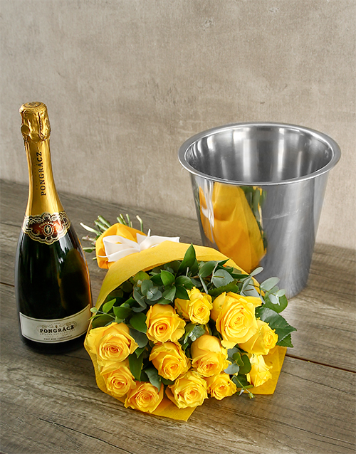 bouquets: Prongracz Spoils and Yellow Roses!