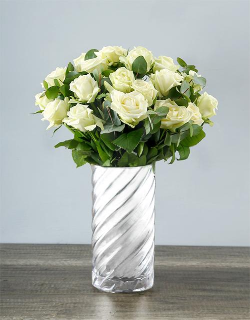colour: Wild About White Rose Bouquet!