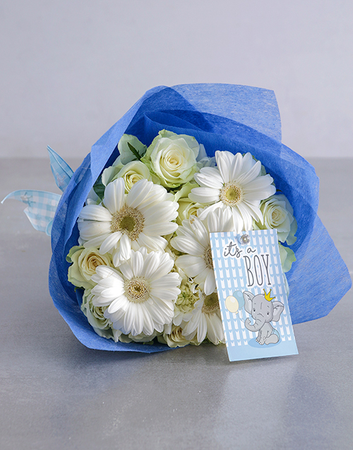 bouquets: Baby Boy White Florals!
