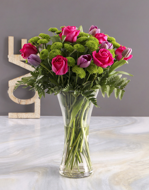 colour: Pink and Purple Floral Surprise!