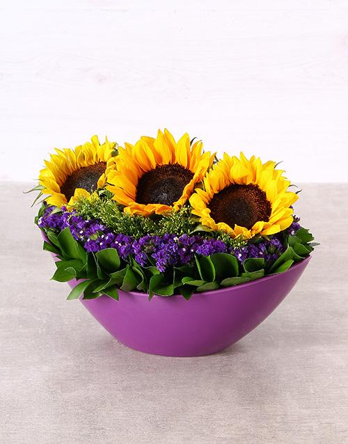 colour: Sunshine in a Purple Boat Vase!