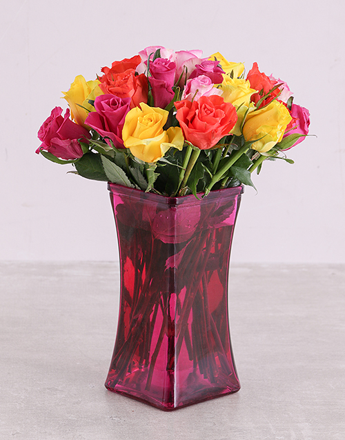 coloured-vases: The Pink Lady Roses in a Vase!