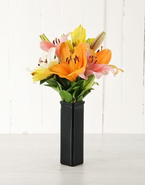 birthday: Sunset Asiflorum Lily Vase!