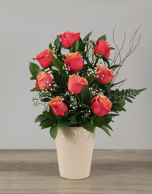 colour: Cherry Brandy Rose Pot!