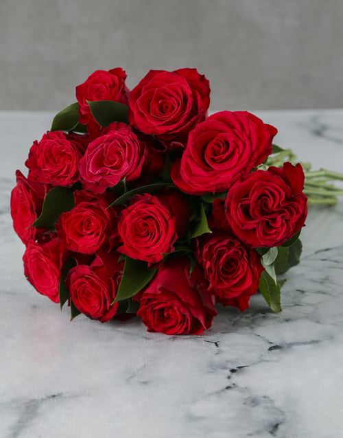 colour: Red Roses in Cellophane Seasonal!