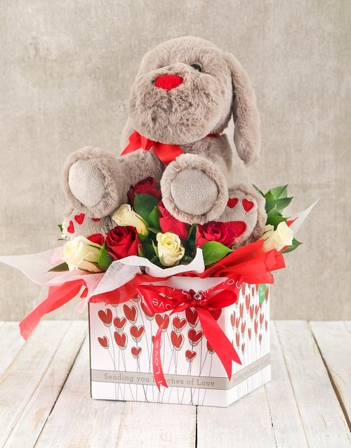 colour: Roses and Puppy Romance Box!