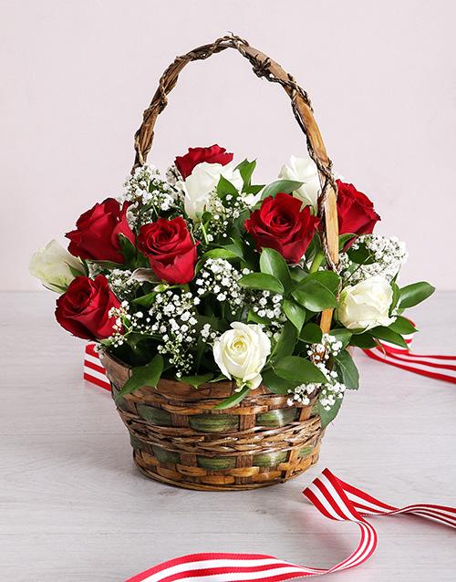 basket: Basket of Radiant Roses!
