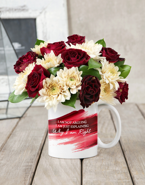 friendship: I am Right Rose Mug Arrangement!